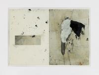 1992, Collage, Tusche, Schuhabdruck, 30 x 40 cm