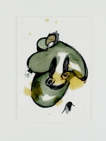 Acryl, Farbstift, Fett, Papier, 21 x 29.5 cm