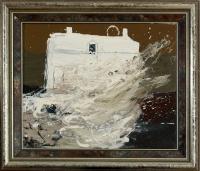 Öl auf Leinwand, 42,5 x 37 cm