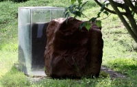 1993, Gusseisen und Glas, 190 x 120 x 94 cm