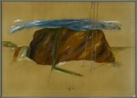 1986, Bleistift und Acryl auf Packpapier, 69 x 49 cm