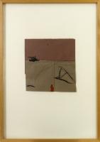 21 x 22 cm Collage, Ölkreide auf Papier 1994 signiert