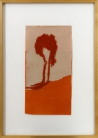 19,5 x 37 cm,Collage,Ölkreide auf Papier,1993, signiert