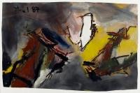 1987, Öl auf Papier, 60 x 95 cm
