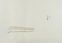 Papierstreifen auf Karton, 130x 100 cm