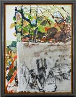 1999, Öl auf Leinwand, Rahmung des Künstlers, 80 x 60 cm