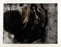 1990, Tusche, Lavage, Asphalt auf Papier, 78 x 106 cm