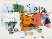 1998, Collage, Gouache, Tusche, Papier, 29 x 39 cm