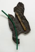1995, Blech, Holz, Schlauch, Nägel, 110 x 60 cm