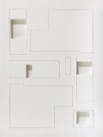 1998, 2 Relieffe, 2 Zeichnungen, Wohnhaus Familie G., 80 x 60 cm