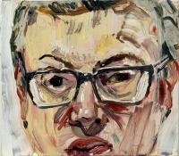 1997, Öl auf Leinwand, 43 x 38 cm,