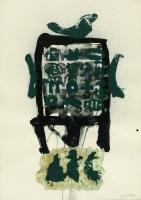 1990, Collage, Öl, Papier, 73 x 51 cm