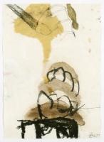 1997, Bleistift, Holzkohle, Öl auf Papier, 44 x 62 cm