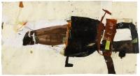 1993, Collage, Öl auf Papier, 115 x 81 cm