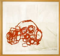 155 x 135 cm, Collage,Öl auf Papier, 1997