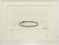Bleistift, geratertes Papier, 30 x 21,5 cm