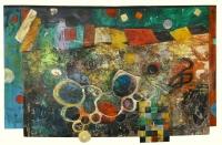 1990, Öl auf Stragula, 178 x 112 cm