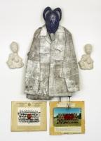 1996, Militäruniform, Gips, Fotos, 120 x 199 cm