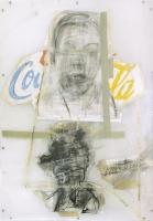 Papier, Kohle, Acryl zwischen Plexiglas, 115 x 166 cm