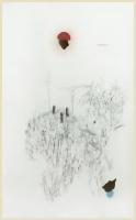 Acryl, Kohle, Bleistift auf Papier, 260 x 140 cm