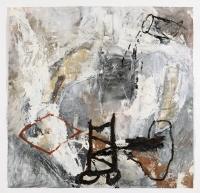 1992, Öl auf Leinwand auf Papier, 91 x 91 cm