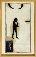 1993, 8 Arbeiten, Öl, Graphit auf Leinwand u. Papier Ca.20 x 50 cm