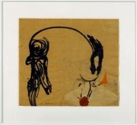 Collage/Öl auf Papier 1991 68 x 59 cm